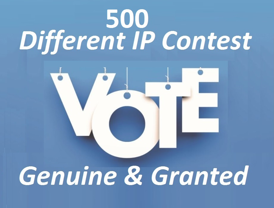 Support you 500 votes Different ip votes on your poll contest