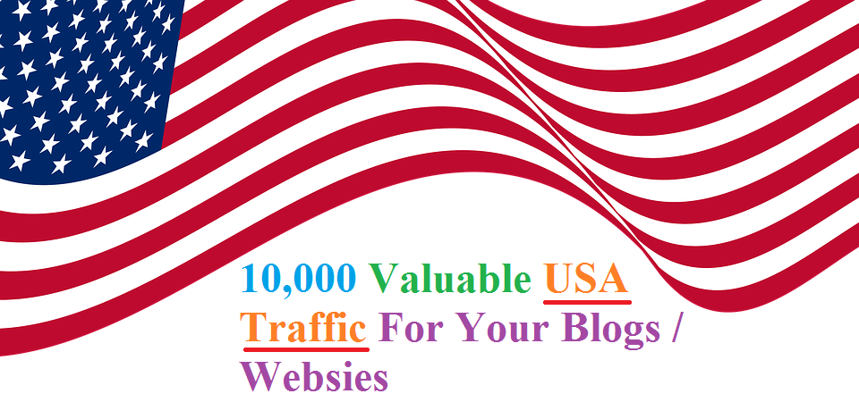 11,500 Valuable USA Traffic For Your Blogs / Websites