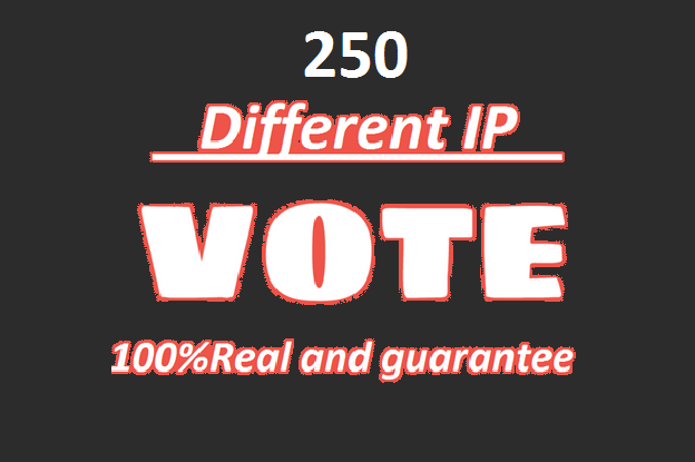 Support you 200 votes Different ip votes on your poll contest