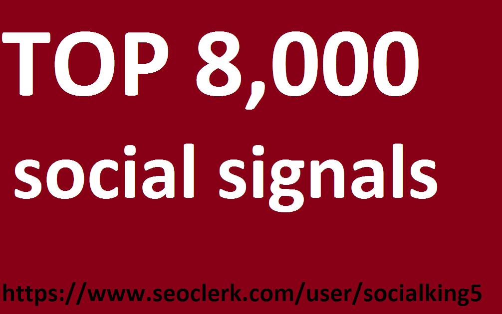 give pinterest 8,000 TOP 1 social social media Social Signals from Social Media Website