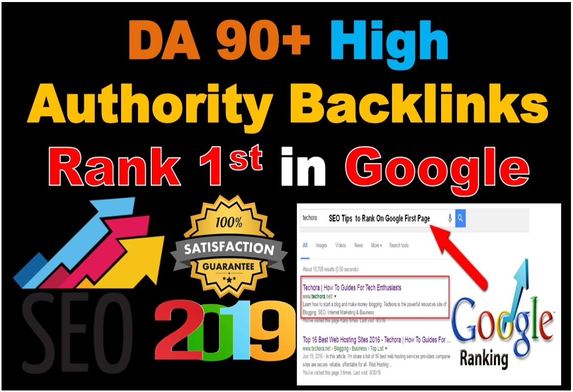 TOP OFFER - I Will Create DA 90-100 PR9 60 High Authority Backlinks To Rank 1st In Google