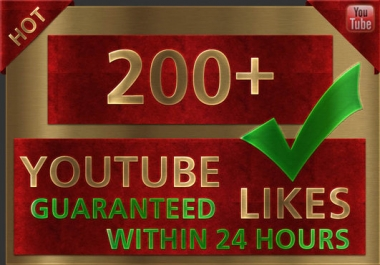 give you 200+ Guaranteed REAL YouTube L1kes [Fast] to your Video within 2 days