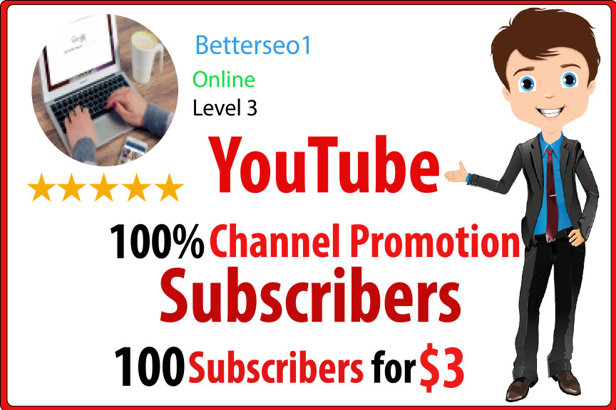 instant 100 High Quality YouTube SUB promotion Instant Delivery