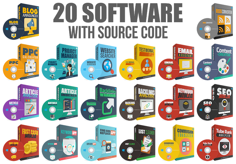 I provide You with 32 Internet Marketing Software Package