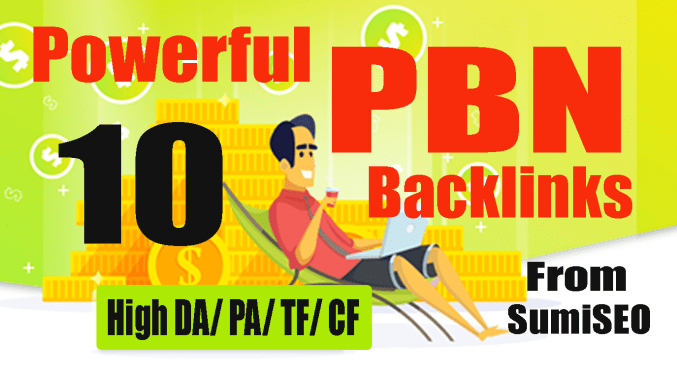 Permanent 10 PBN backlink,  DA 30 High