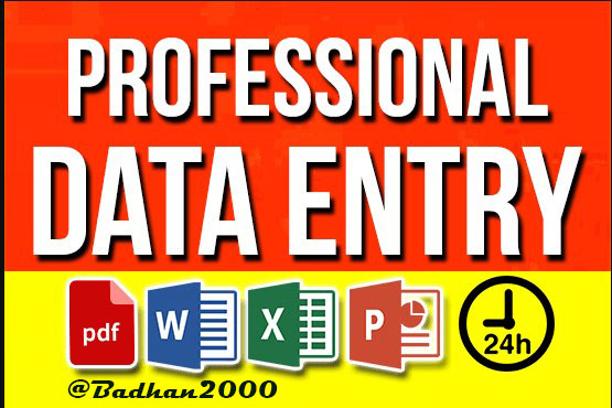 Looking for any kind  of data entry job?