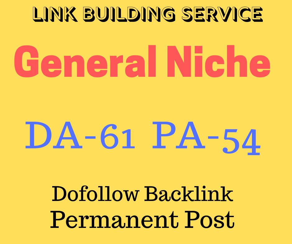 Sponsored Guest Post On DA61 General Niche Site