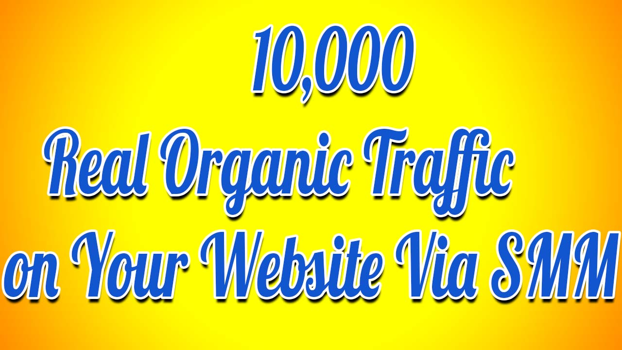 10,000 Real Organic Traffic On Your Website Through SMM