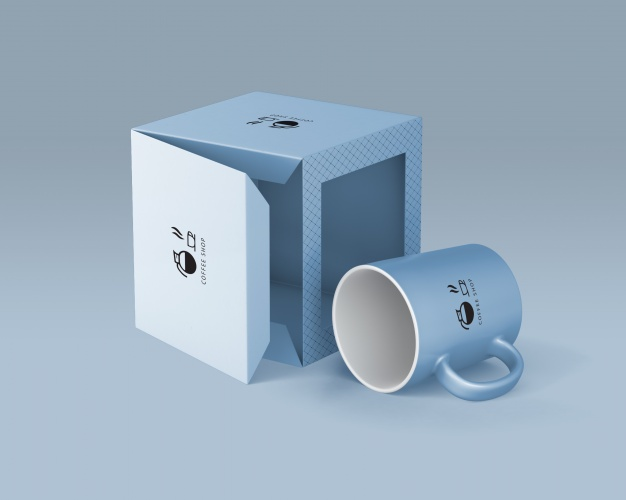 I creat mock up and design a coffee cup for your company