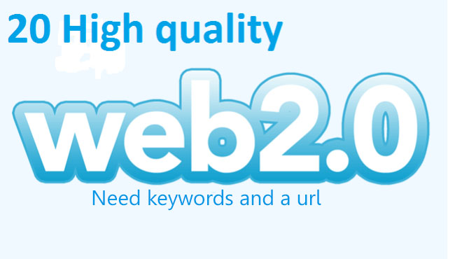 Increase the traffic to your website via 20 web 2.0 backlinks