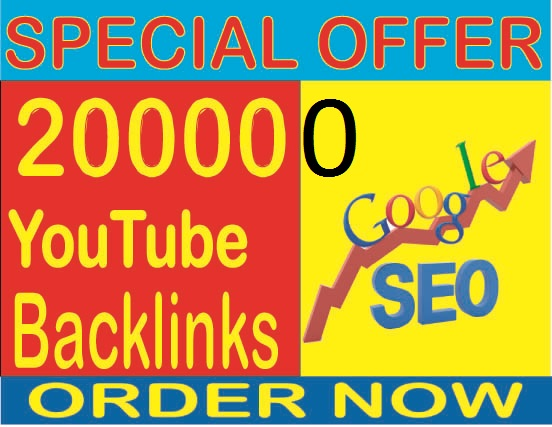 Rank your website 1 in Google- Create 200,000 YouTube Backlinks and Embeds,  Organic Video Backlinks