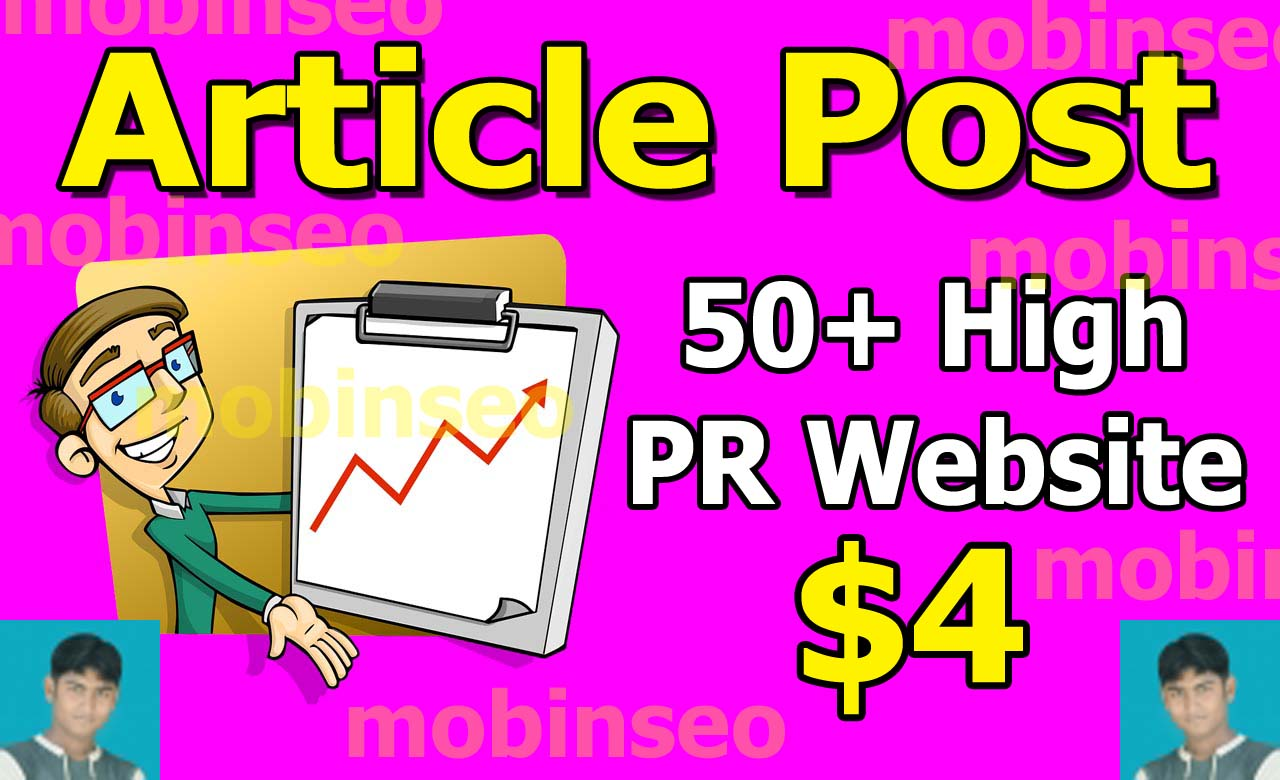 Promot your new article Post 50+ high PR Website