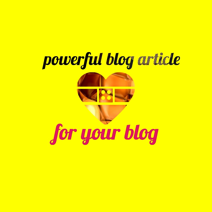 Write a Powerful Blog Article For Your BLOG