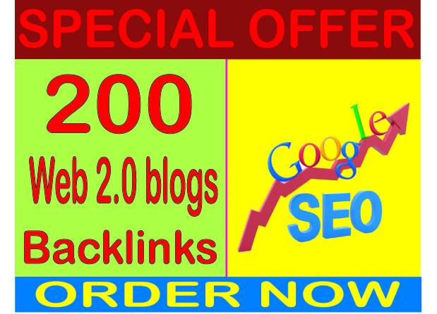 Campaign SEO- Create 200 Web 2.0 High PR Metrics Backlinks