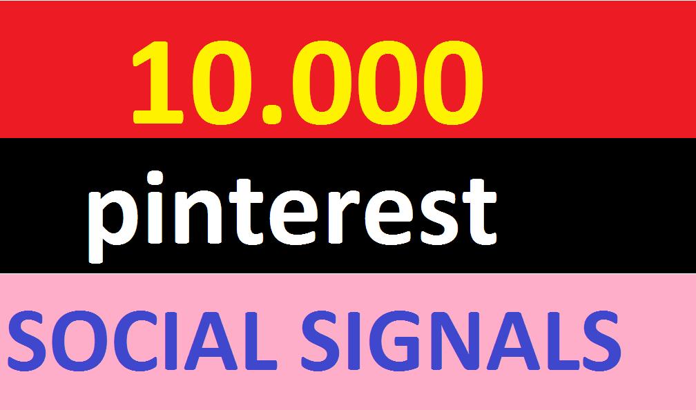10,000 pinterest Social Signals Come From Top 1 Social Media Sites