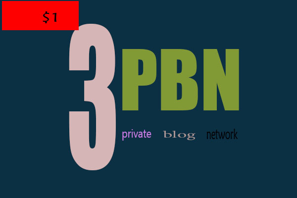 Manually 3 Unique Homepage PBN Backlinks