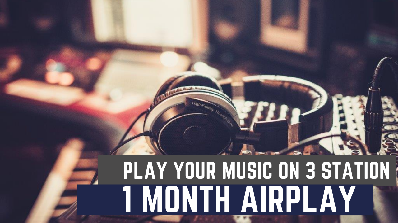 Play And Rotation Your Music On 3 Radio Station For 1 Month
