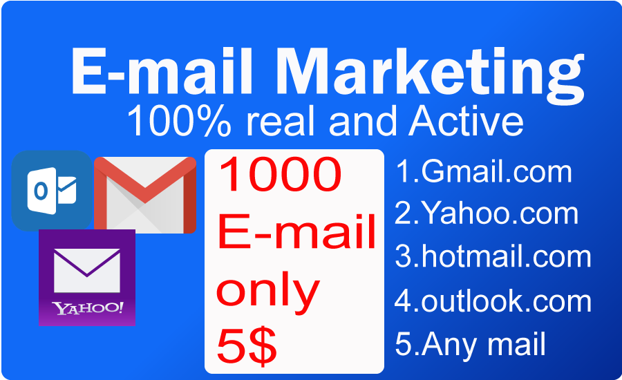 E-Mail address collect and Marketing