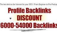 Create 6000 Profile Backlinks