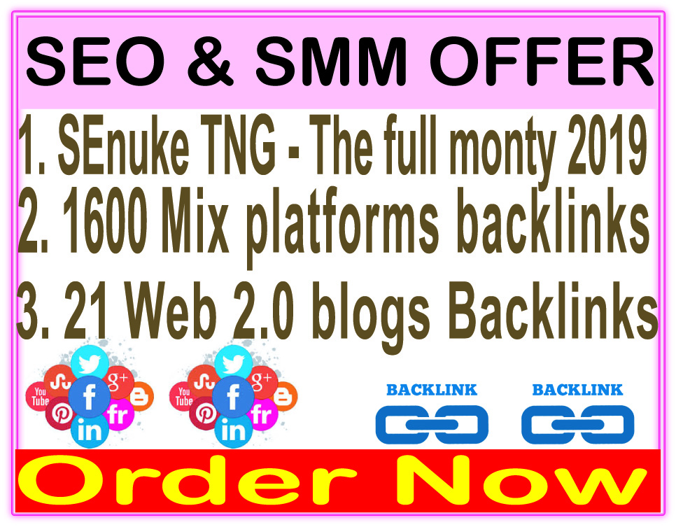 High Indexer SEO campaigns-SEnuke - The full monty template 2019-1600 Mix platforms backlinks-21 Web 2.0 blogs