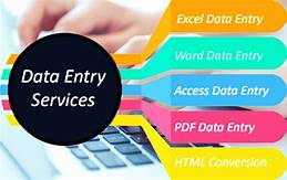 Data entry,  all kind of entry in excel,  typing in word. inset images,  power point etc