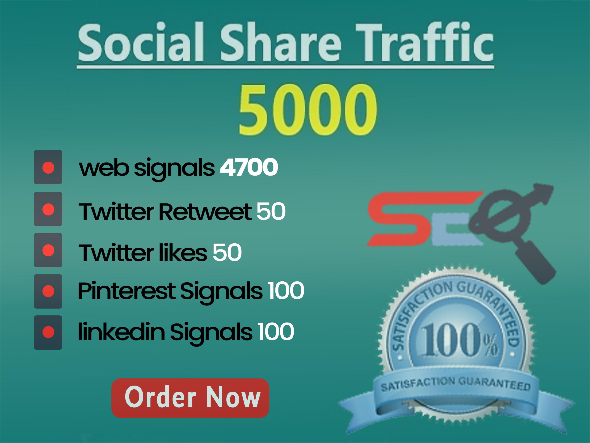 5000 SEO Social Signals Backlink DA 50-PA 50