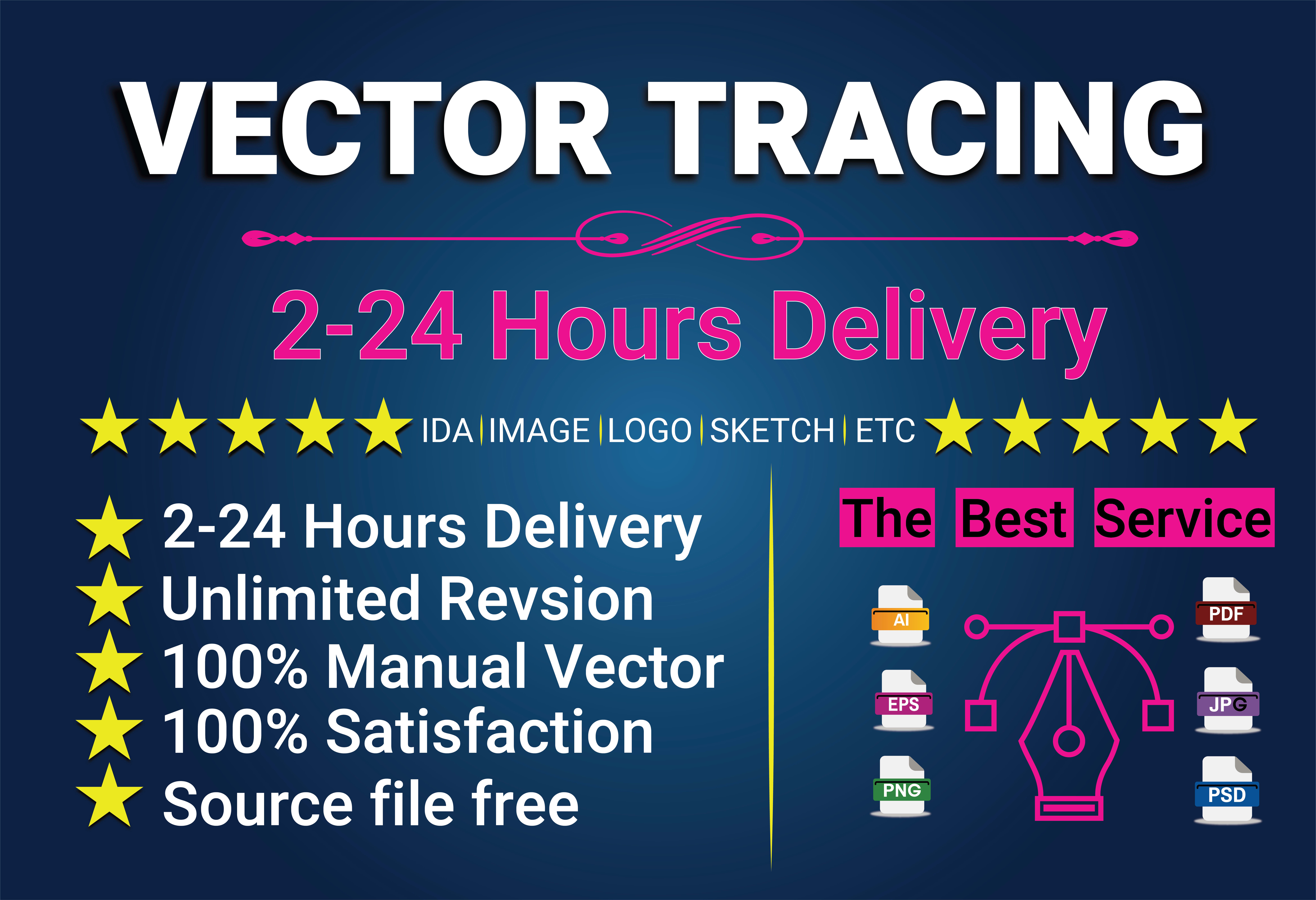 Do vector Tracing, recreate and Update logo in vector format with high resolution