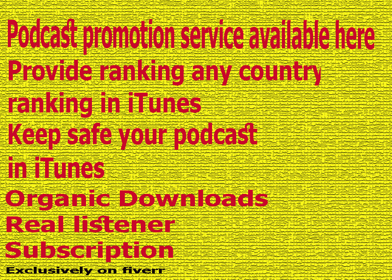 do promotion for your podcast in iTunes store