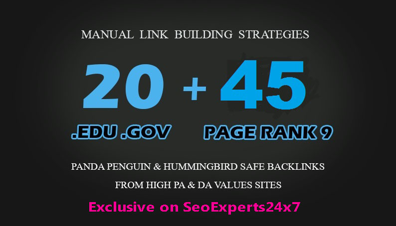 Fire your seo google Ranking with 45 Pr9+ 20 Edu/Gov Safe seo Authority Backlinks