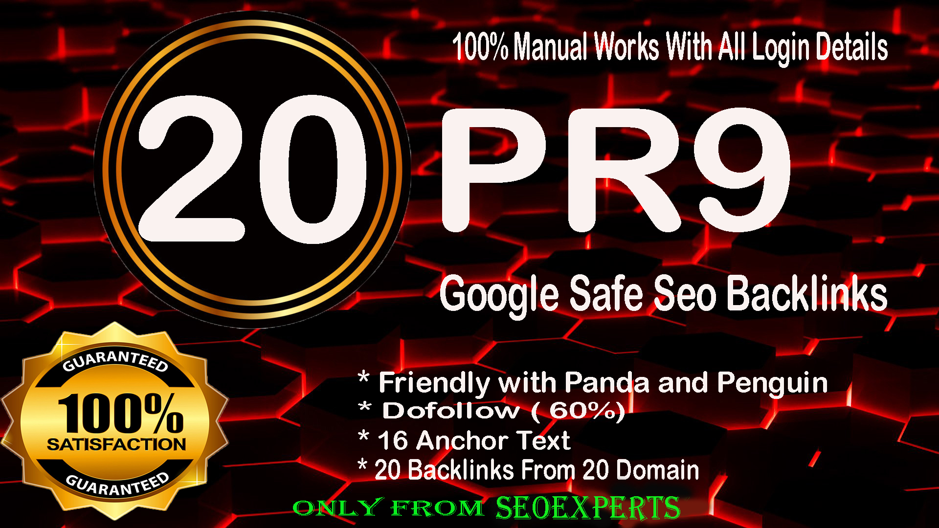 Skyrocket your Google Ranking- 20 Pr9 - 80+ DA High Quality SEO Domain Authority Permanent Backlinks