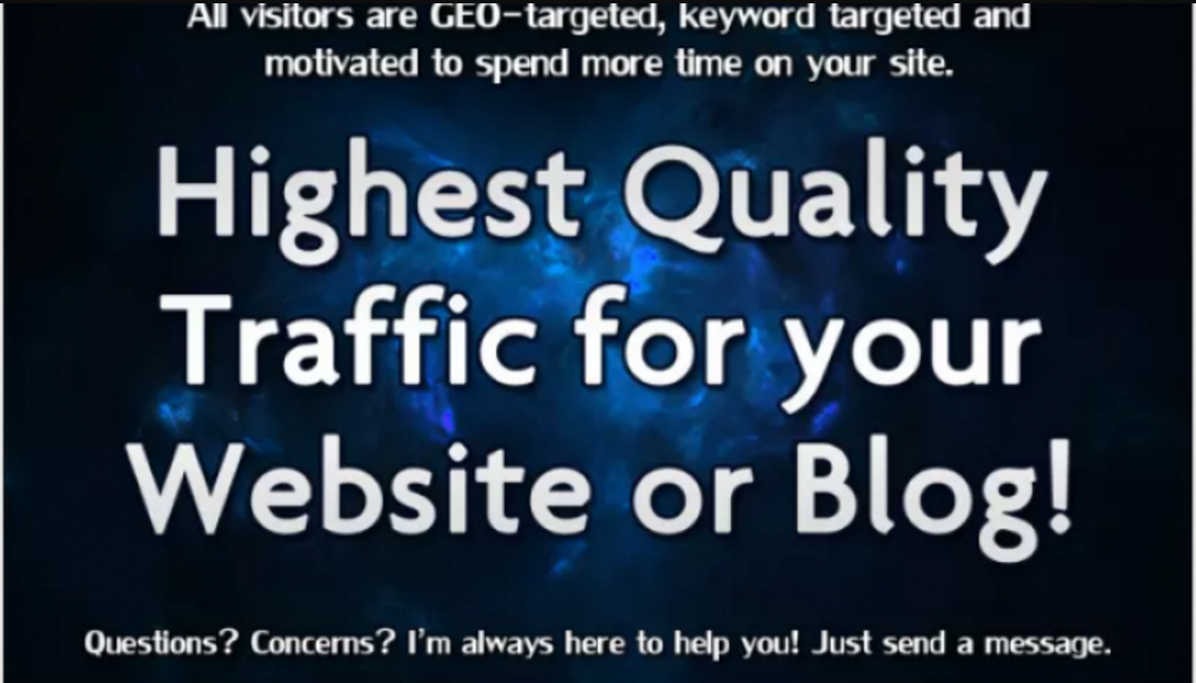Real Human Website Promotion with High Quality TARGETED Visitors
