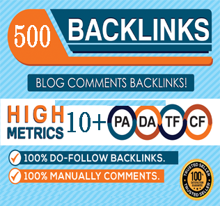I Manually Make 500 Blog Comments BSEO Backlinks