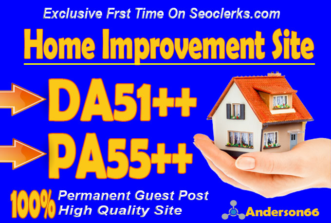 do guest post in DA51 HQ Home Improvement blog