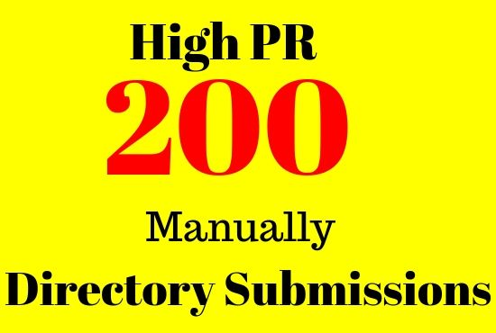 200 Web Directory Submission Manually