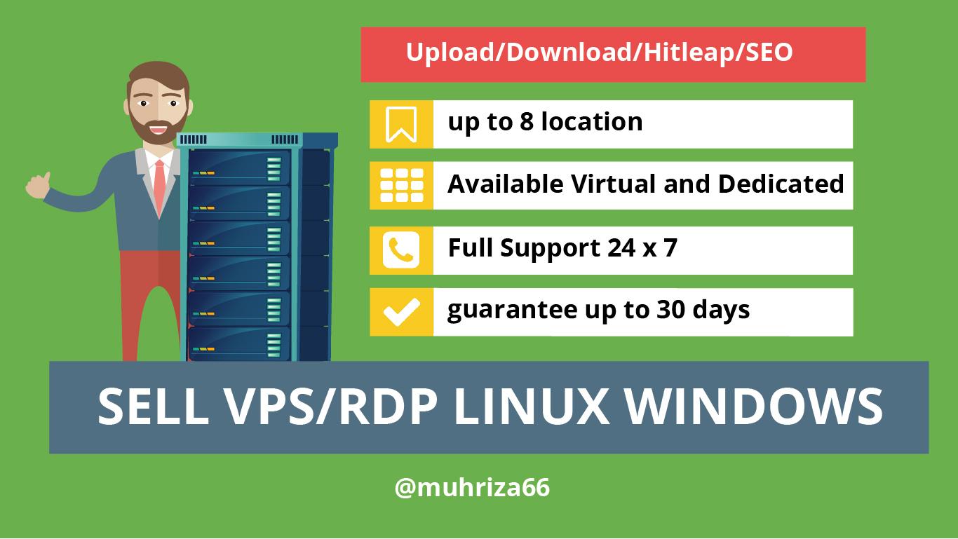 RDP Full Admin Spek 4 Core 8 Gb Ram 160 Gb SSD 4 TB Bandwith
