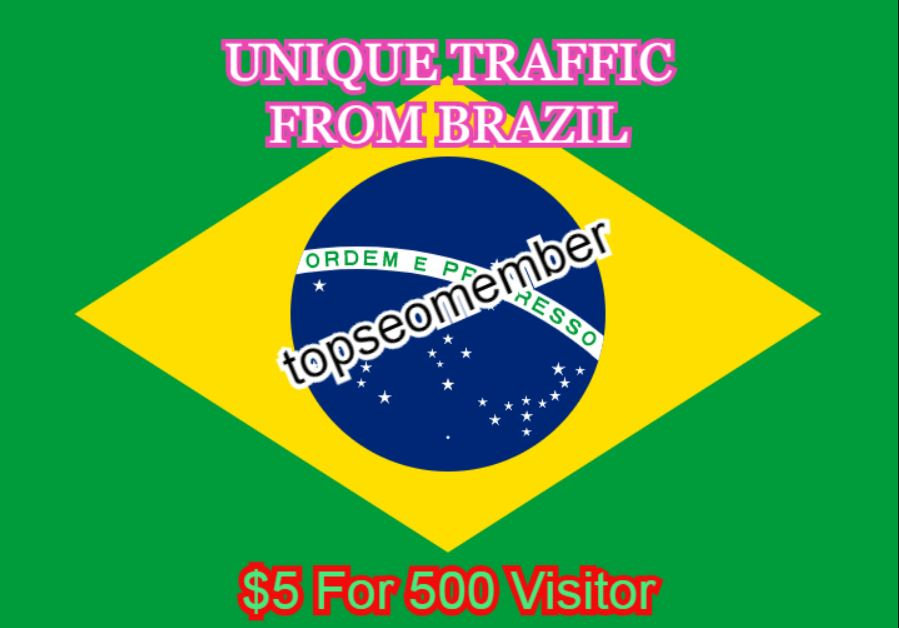 BRAZIL - 500 Targeted and Unique Traffic