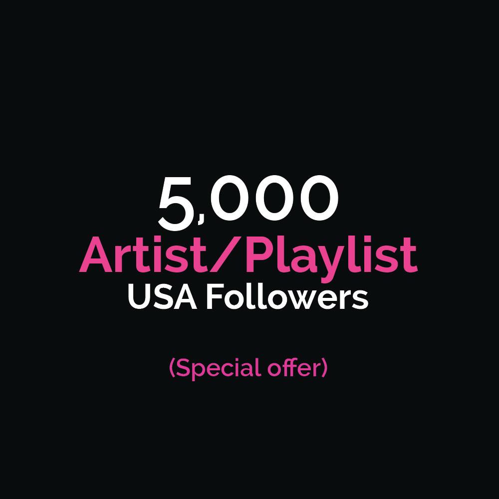 5000+ HIGH QUALITY USA Followers (Artist)