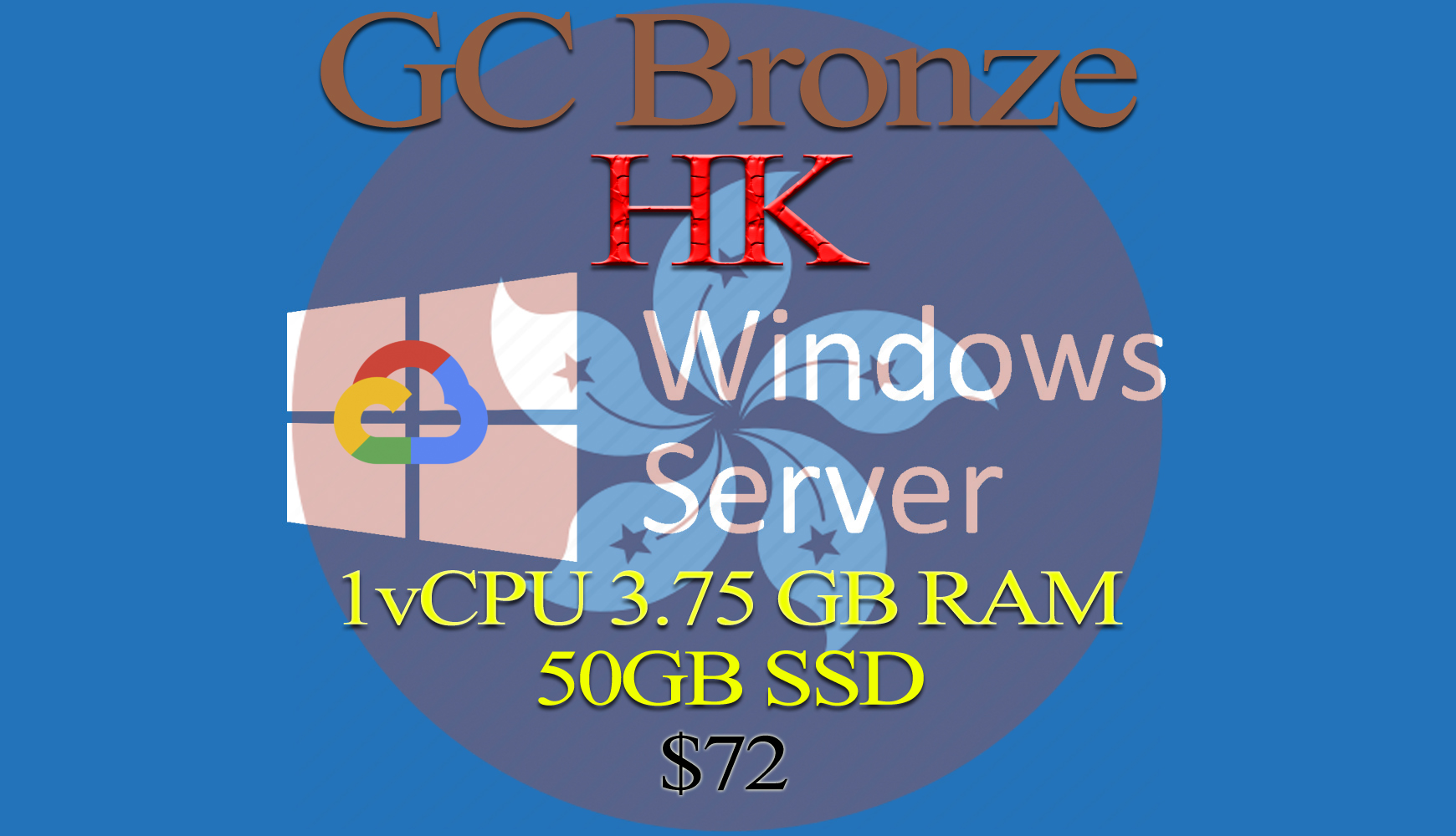 Hong Kong RDP Bronze - 1vCPU - 3.75GB RAM - Guarantee!