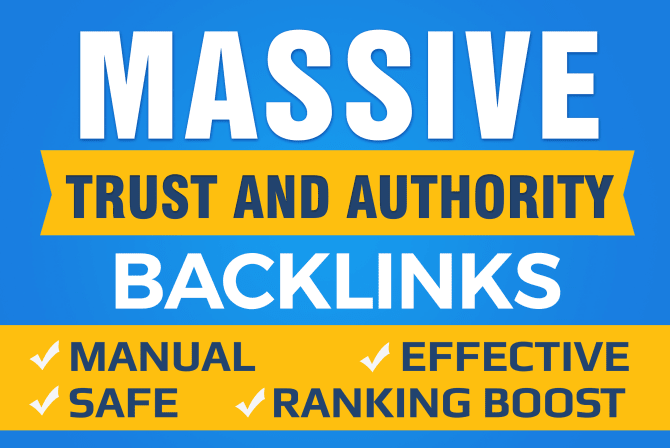 Do Google SEO With Manual High Authority Backlinks And Trust Links 100% SAFE White Hat and Manual