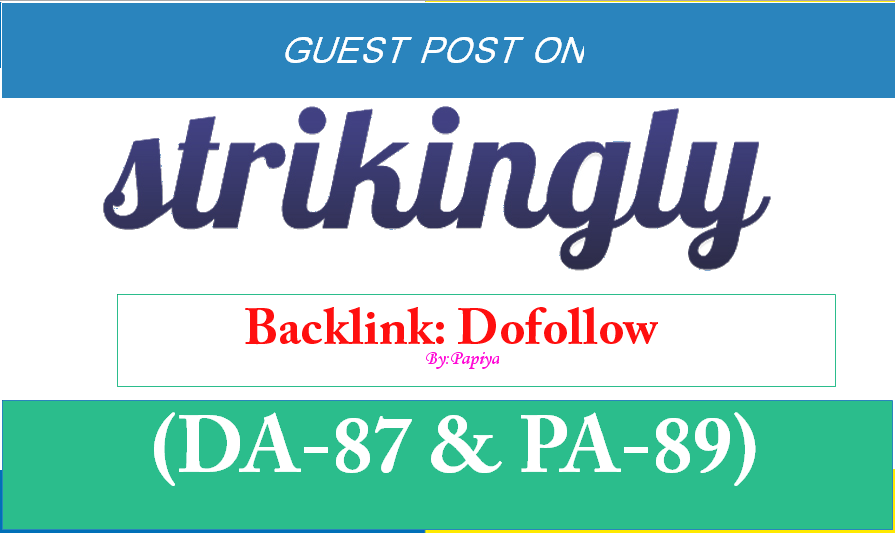 Publish Dofollow blog on strikingly. com DA-87