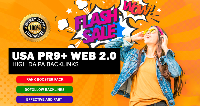 Boost Rank With 150 USA Pr9 and 50 Web 2.0 SEO Backlinks