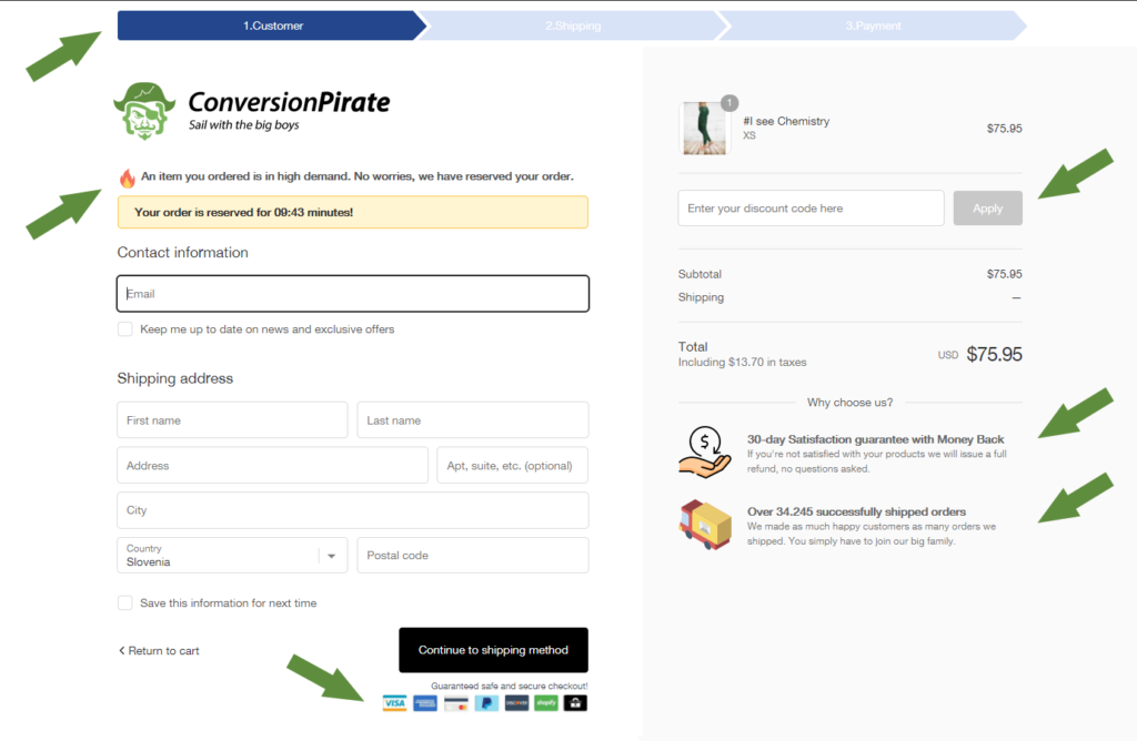 Shopify Checkout Page To Increase Conversions