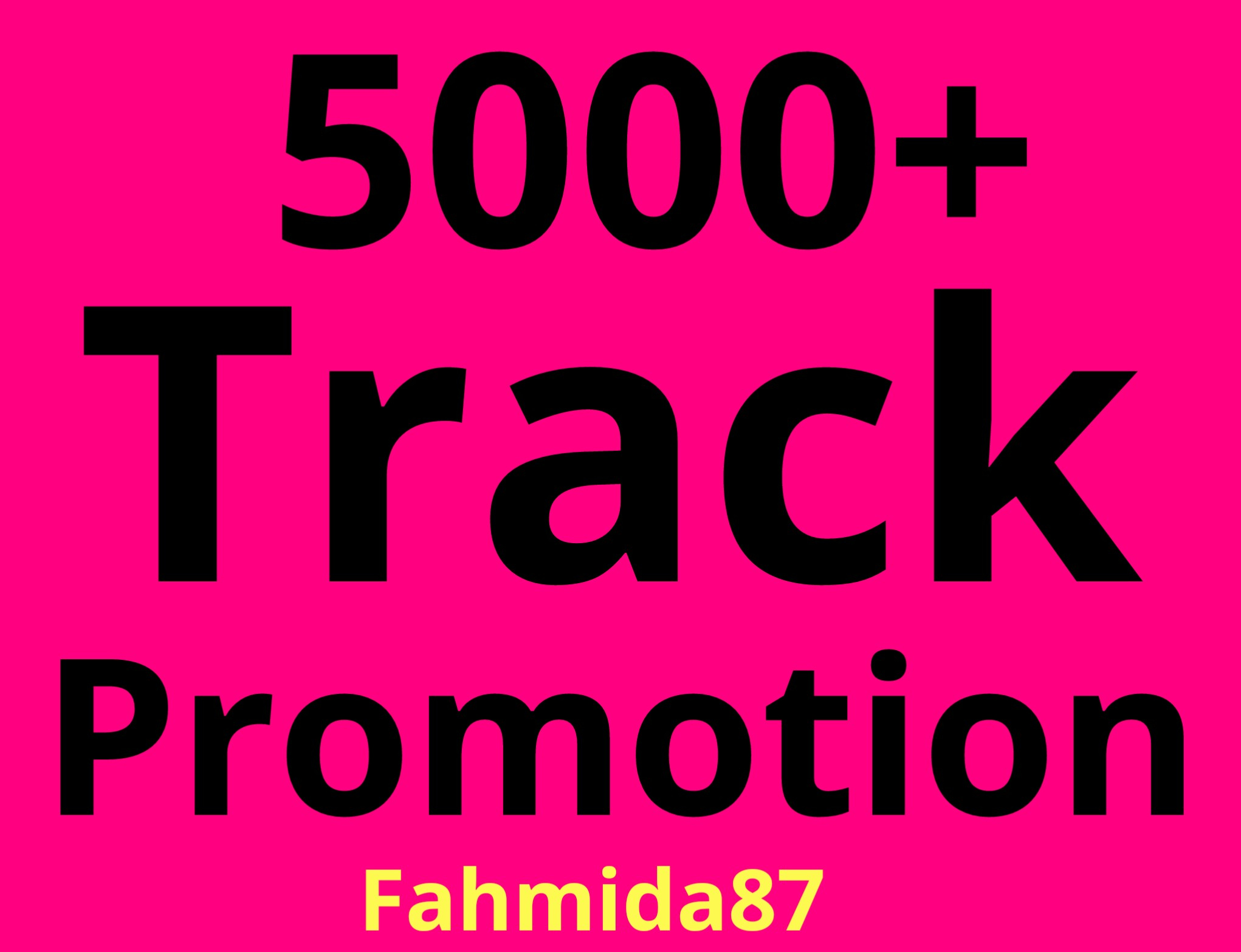 Music Promotion 5000+ HQ Track Promotion Unique Listeners Guaranteed