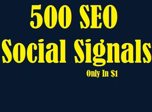 500 Universal SEO Social Signals Share Service