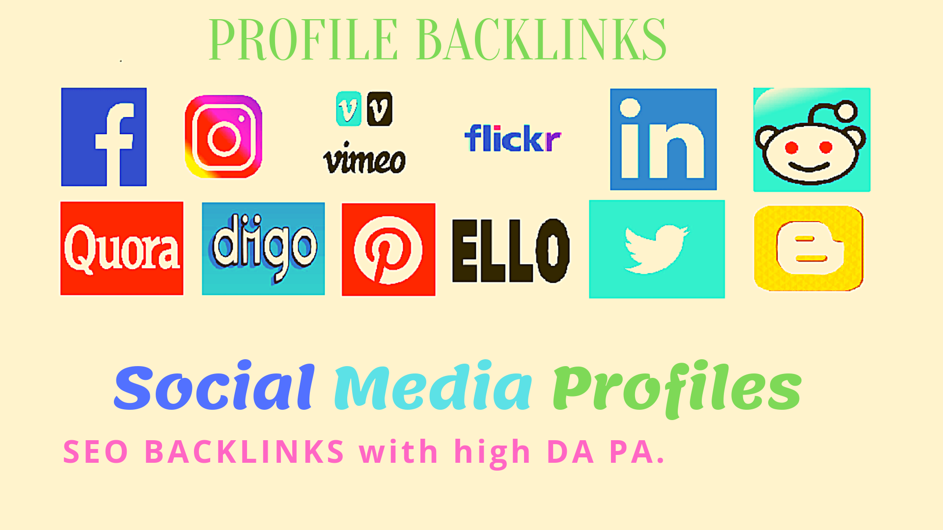 60 SEO High Quality Profile Backlinks To Boost Traffic