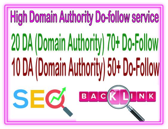 Do 30 Domain Authority 20 DA70 + 10 DA50 to Rank your Google