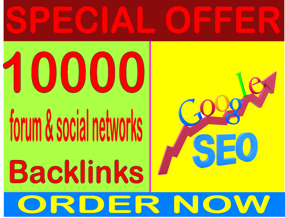SEO Rank- Create 10000 HQ. forum & social networks PR7 to PR10 Backlinks Boost SEO Ranking