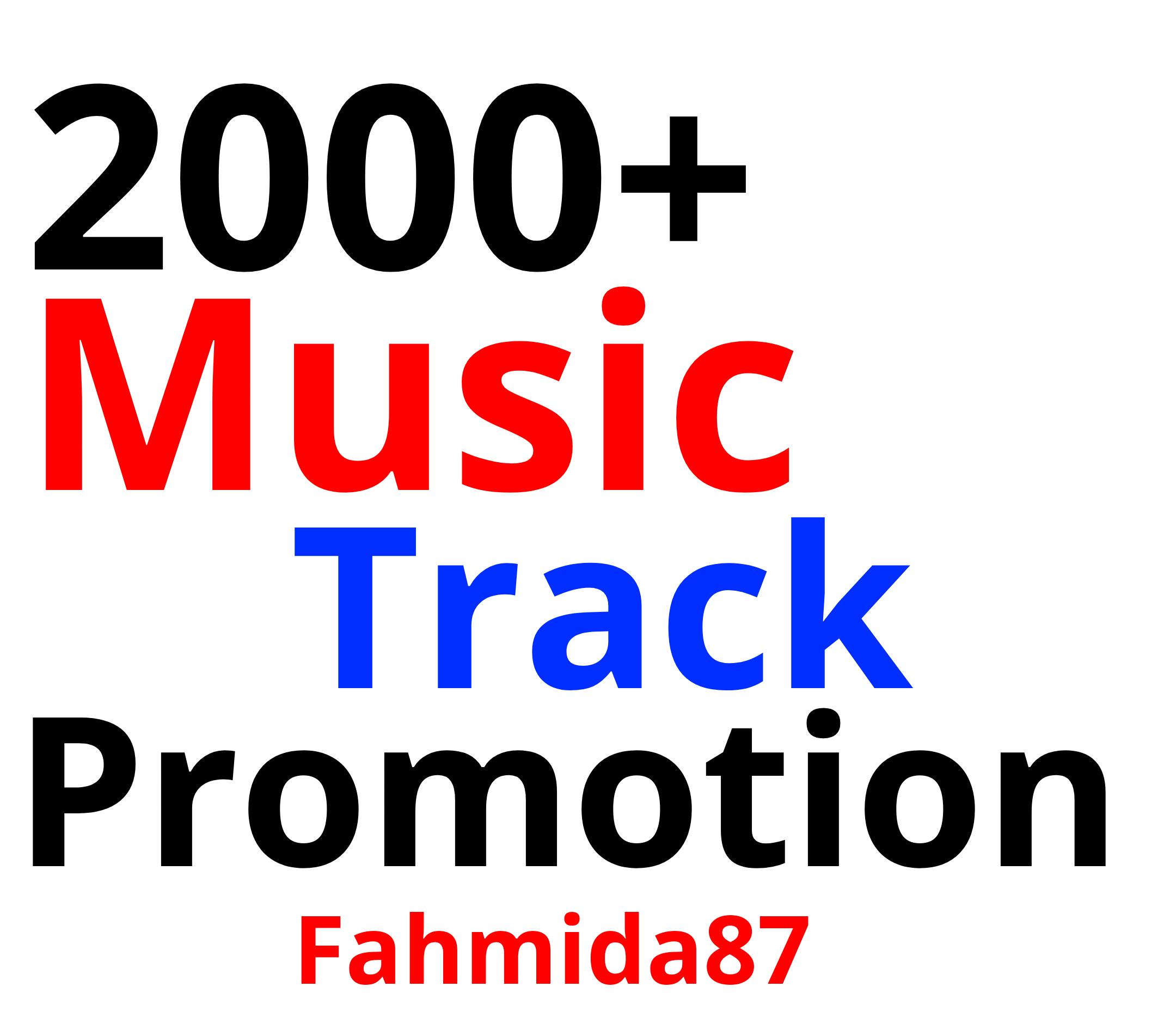 Music Promotion 2000 Real Track Promotion Unique Listener's