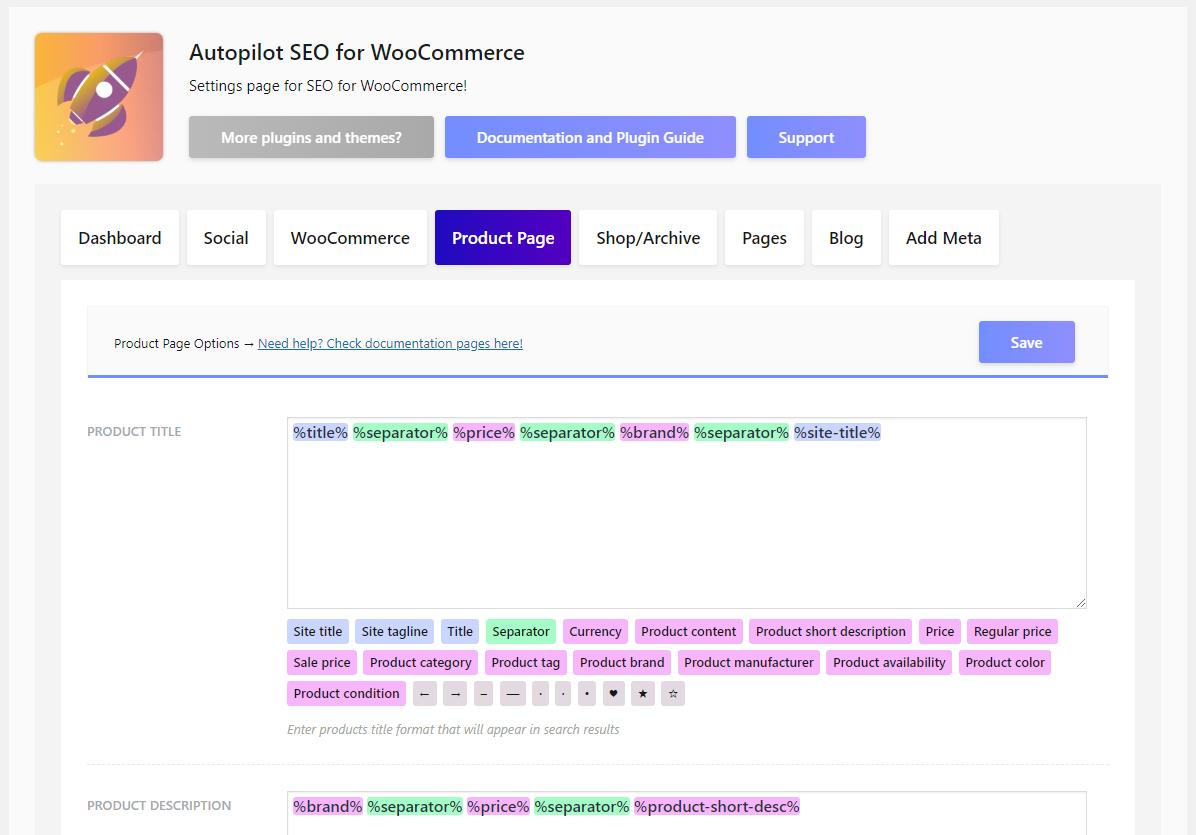 Autopilot SEO for WooCommerce