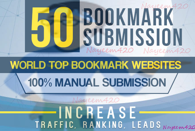 manually 30+ bookmark submission backlinks,  high pa da